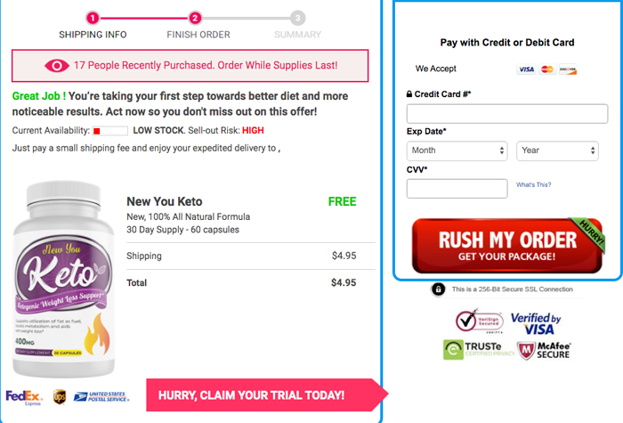 order New You Keto Trial