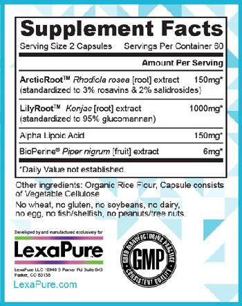 LumaSlim Supplement Facts