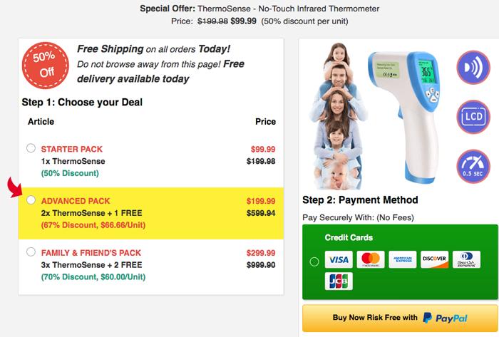 Thermosense Thermometer price