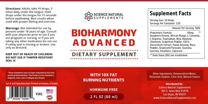 BioHarmony Advanced ingredients
